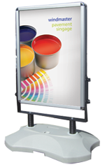 Windmaster outdoor stand - poster company